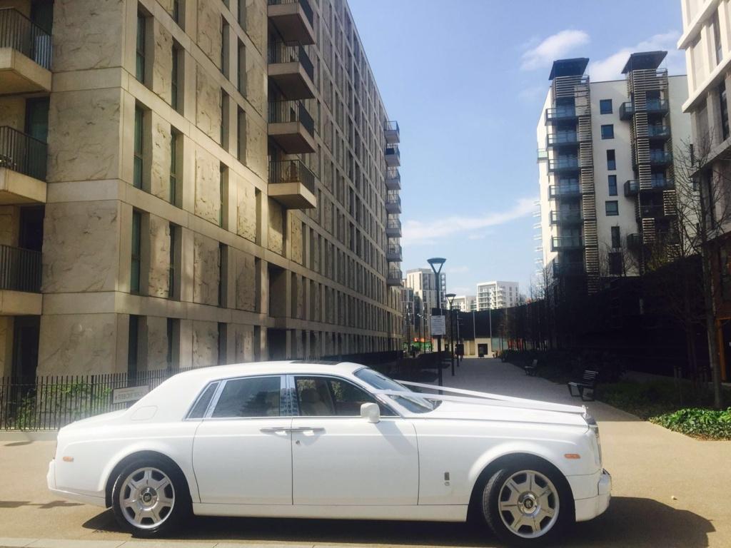 White Rolls Royce Phantom